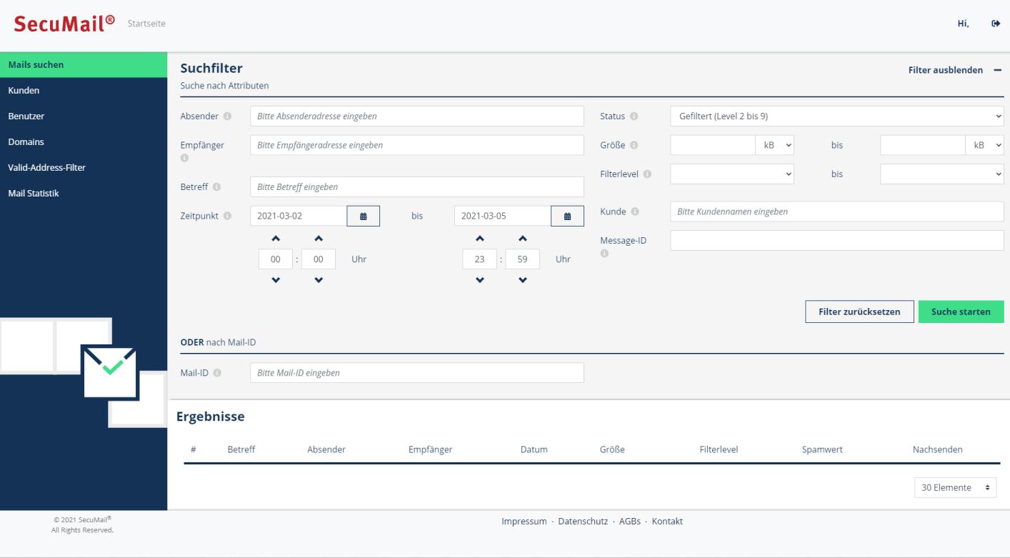 das neue SecuMail Portal